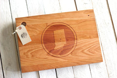 Personalized Modern Circle Cutting Board - City, State or Country