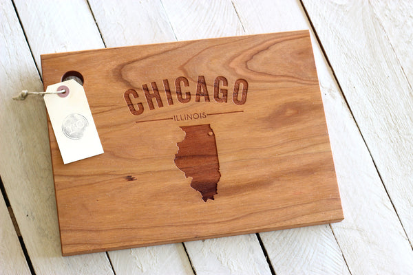 Personalized Cutting Board - City, State or Country Name