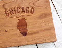Personalized Text Serving Tray - City, State or Country