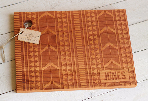 Personalized Tribal Cutting Board