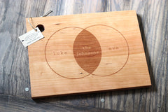 Personalized Venn Diagram Cutting Board - Names