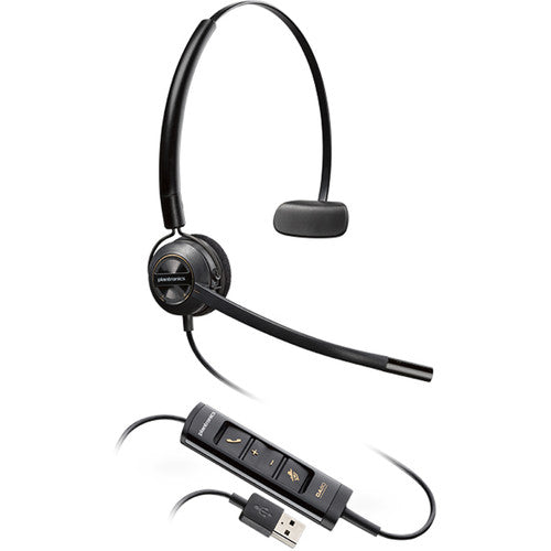 Poly  HW545 - Encore Pro Monaural Convertible Wideband Headset (Noise Cancelling) (USB)