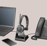 Poly Voyager 4220 Office Bluetooth Headset with 2-Way Base for MS Teams (USB-A) (B4220-O-M-A)