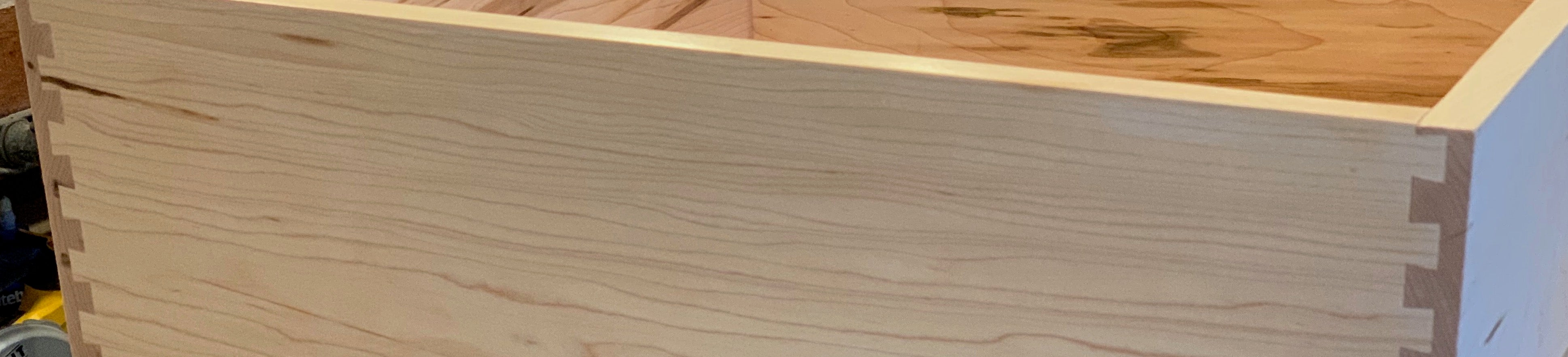 Dovetails cut in our shop, not outsourced!