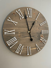 Load image into Gallery viewer, Farmhouse Clock With Roman Numerals
