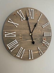 Farmhouse Clock With Roman Numerals