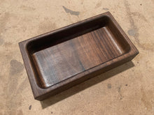 Load image into Gallery viewer, Walnut Valet Tray With Cargo Stamp