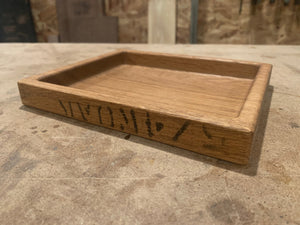 Oak Valet Tray With Cargo Stamp