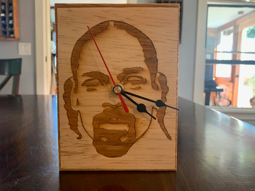 Snoop Dogg Engraved Wood Desk or Shelf Clock