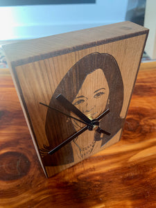 Kamala Harris Butternut Desk or Shelf Clock