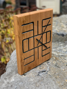 "Adinkra ""Knowledge"" Clock"