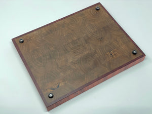 Custom End Grain Carving Board with End Grain Inlay