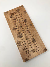 Load image into Gallery viewer, Snowflake Cribbage Board - LIMITED EDITION
