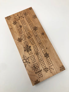 Snowflake Cribbage Board - LIMITED EDITION