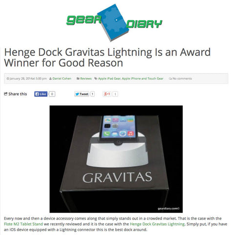 Gear Diary Gives Gravitas a Rave Review!