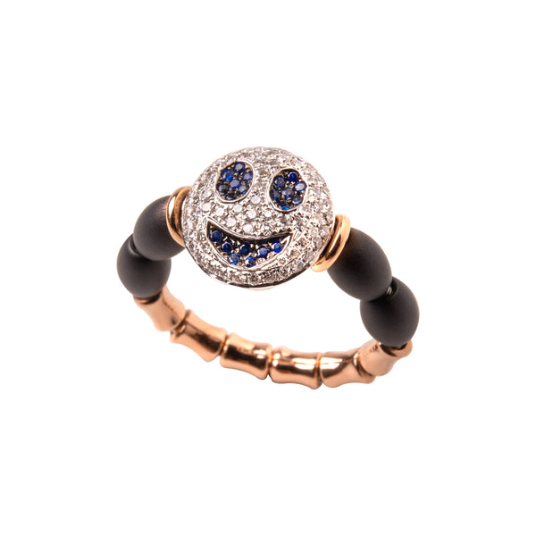 Smile Face Ceramic Ring