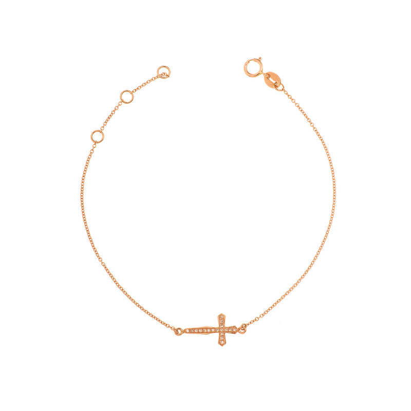 Elongated Cross Chain Bracelet