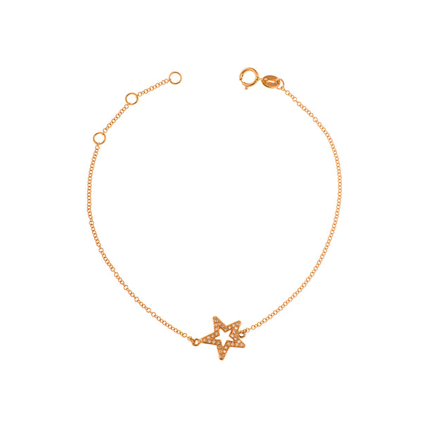 Hollow Star Chain Bracelet
