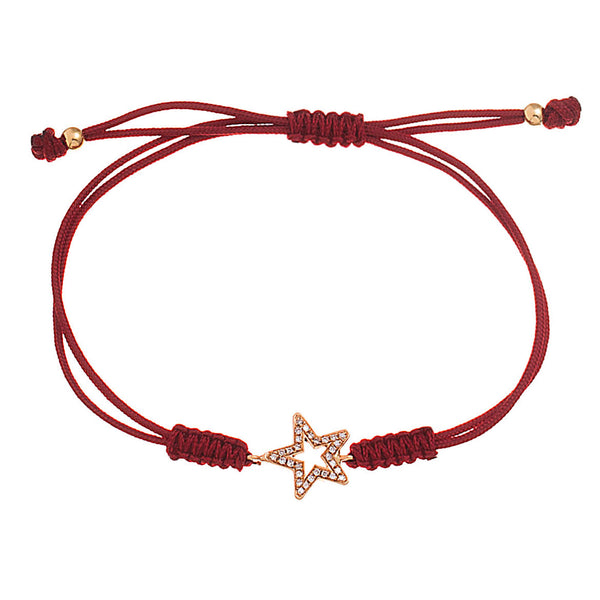 Hollow Star Cord Bracelet