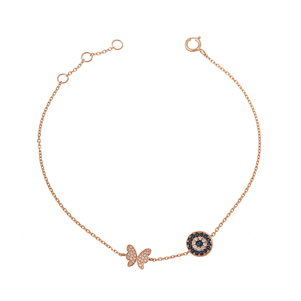 Eye and Butterfly Bracelet