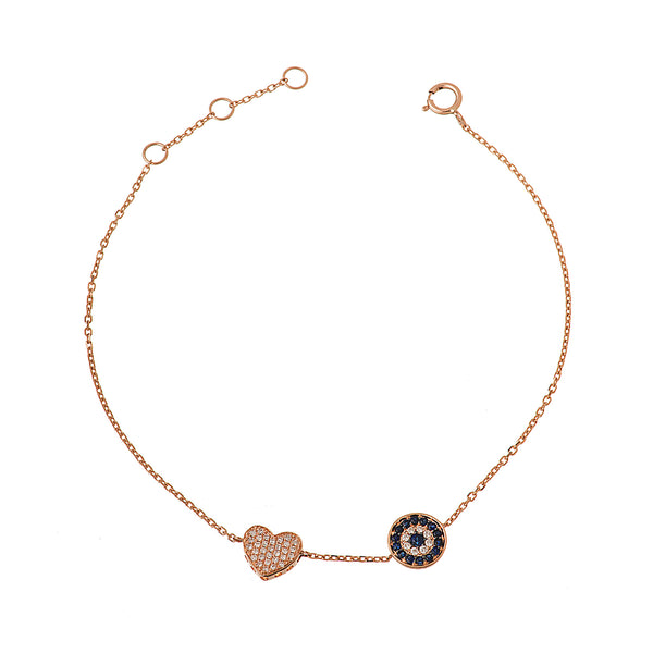 Eye and Heart Bracelet