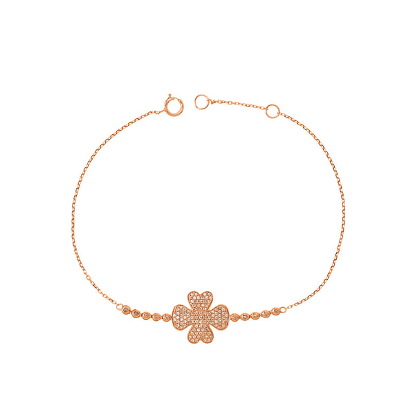 Diamonds to Clover Bracelet
