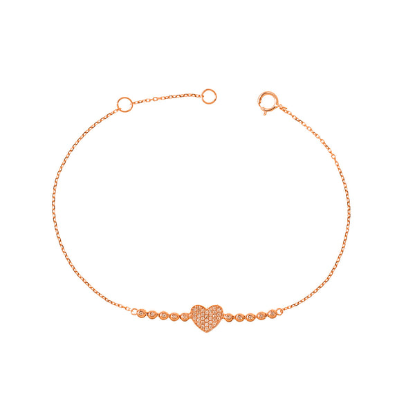 Diamonds to Heart Bracelet