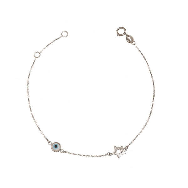 Star Bracelet with Evil Eye