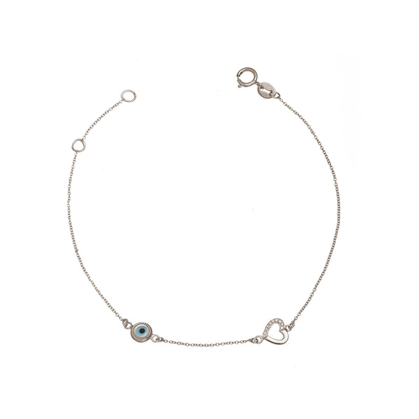 Heart and Eye Bracelet