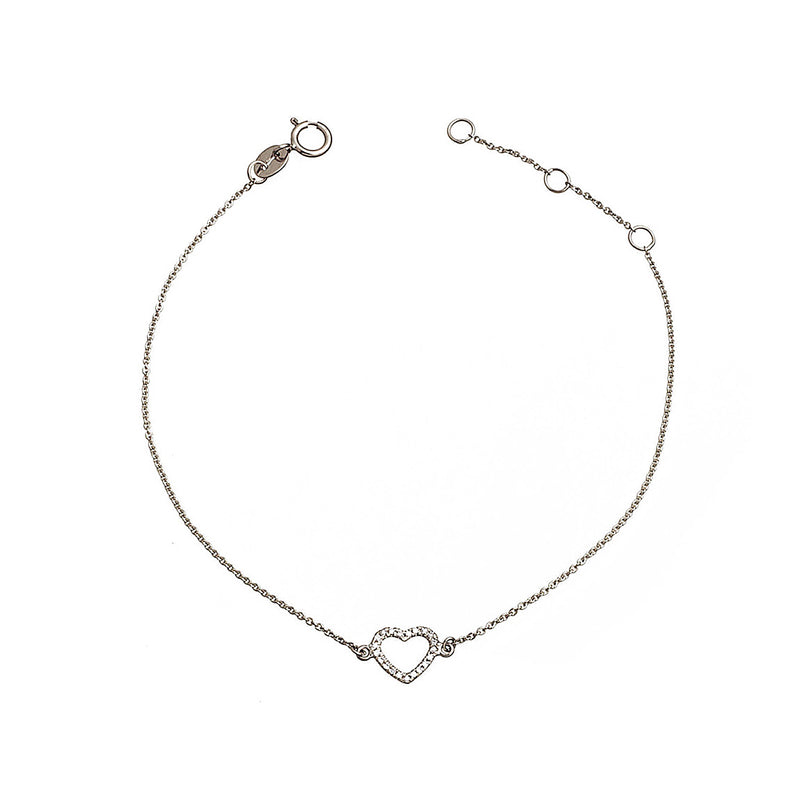Diamond heart bracelet.