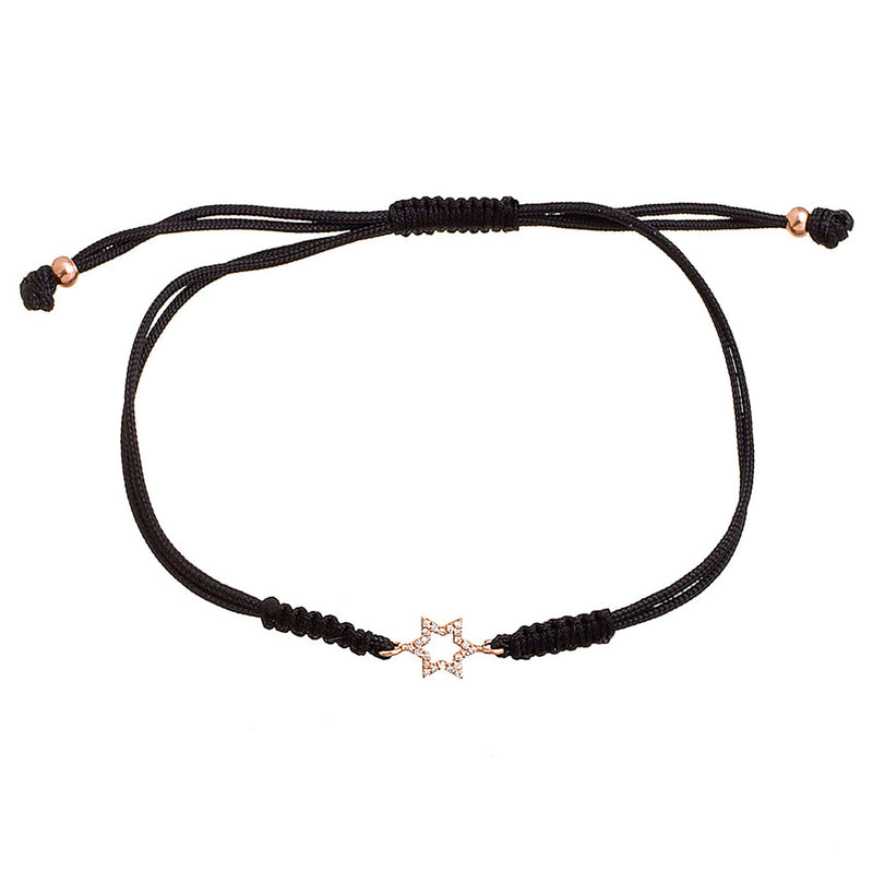 Diamond Star Cord Bracelet