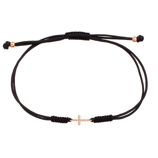 Mini Cross Cord Bracelet
