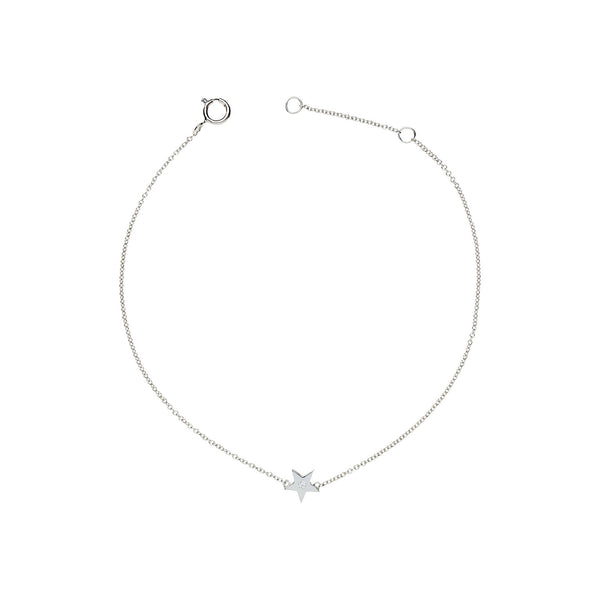 Single Diamond Star Bracelet