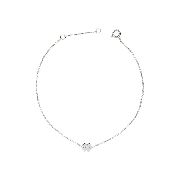 Single Diamond Clover Bracelet
