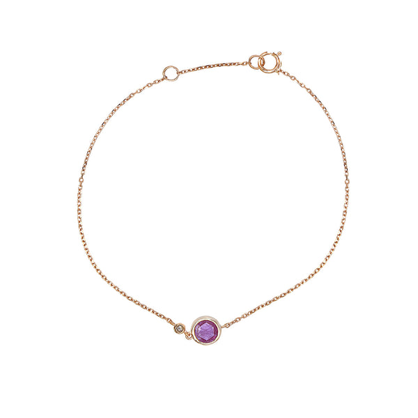 Pink Sapphire Touch Bracelet