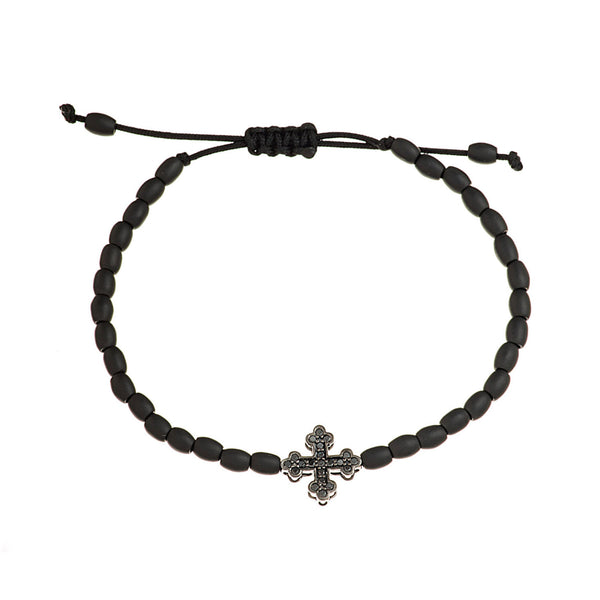 Diamond Cross Ceramic Bracelet