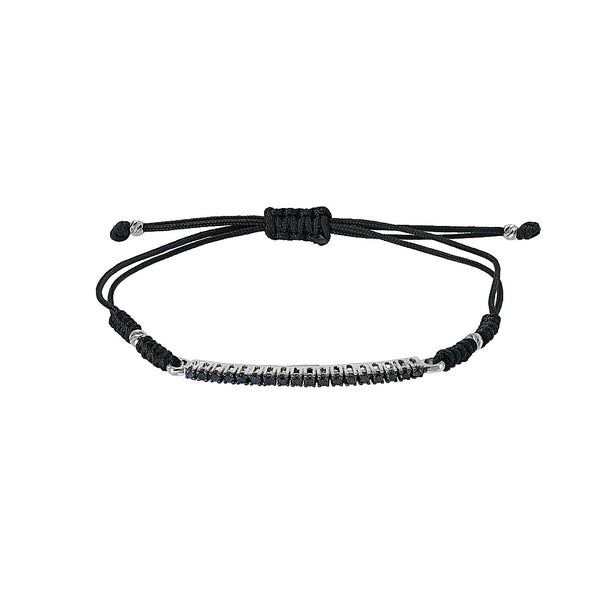 Black Diamond Bar Bracelet