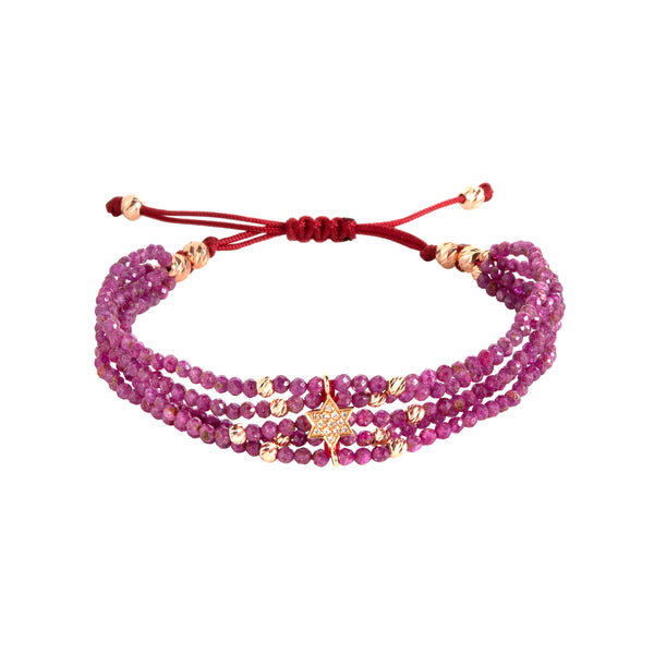 Diamond Star Ruby Bracelet
