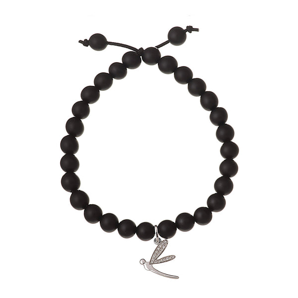 Dragon Fly Onyx Bracelet