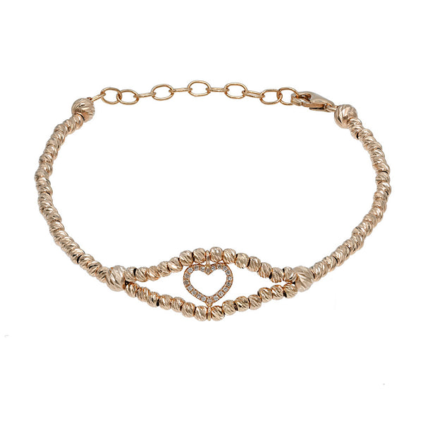 Heart Double Helix Bracelet