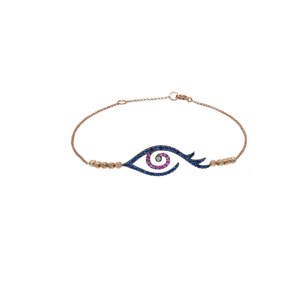 Pink Eye Tattoo Bracelet