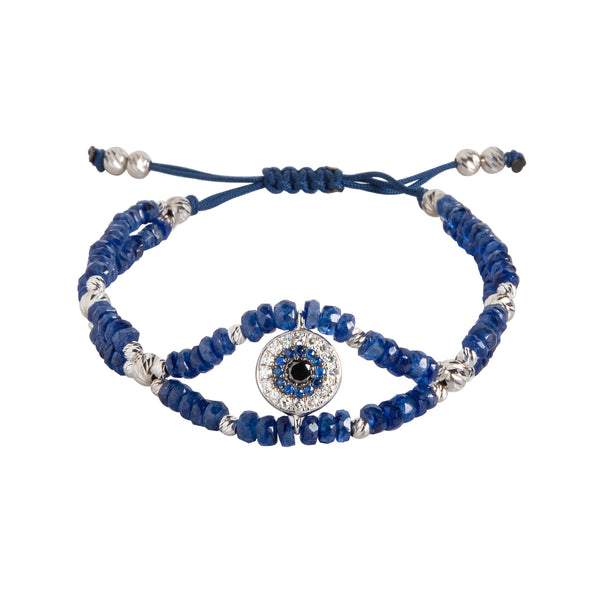 Sapphire and Diamond Evil Eye Bracelet