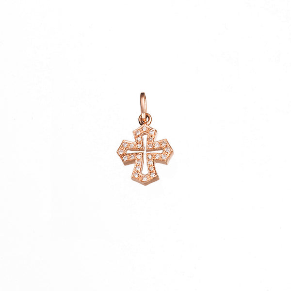 Diamond roman style gold cross