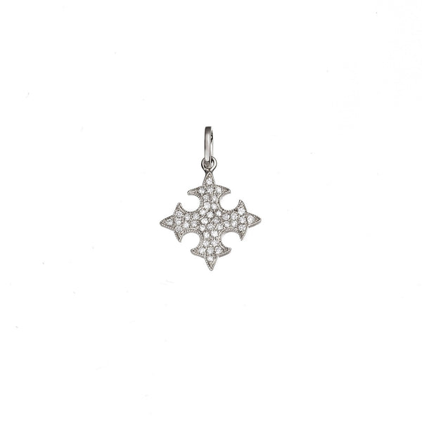 Diamond Floury Cross Pendant