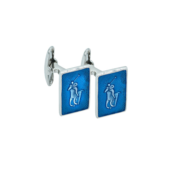 Silver and Enamel Cufflinks
