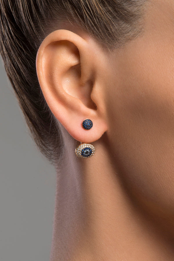 Sapphire Evil Eye Earrings