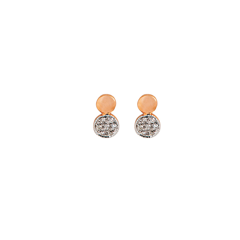 Double Circles Diamond Earring