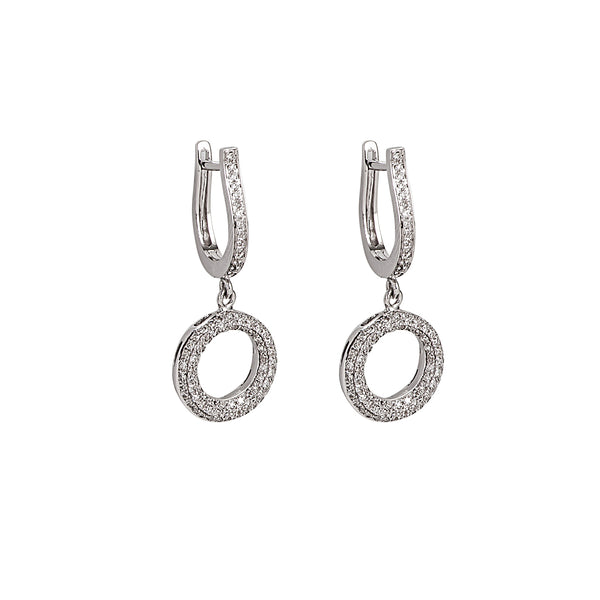 Circle Diamond Earring