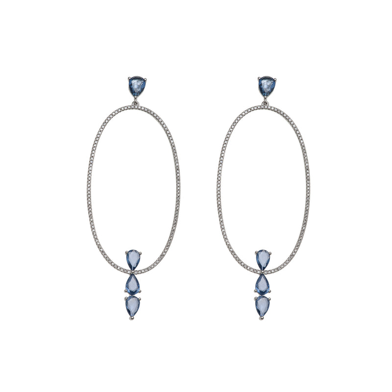 Starstruck Oval Diamond Earrings