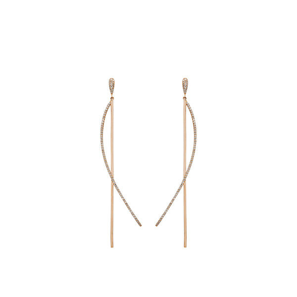 Two Lines Diamond Earring